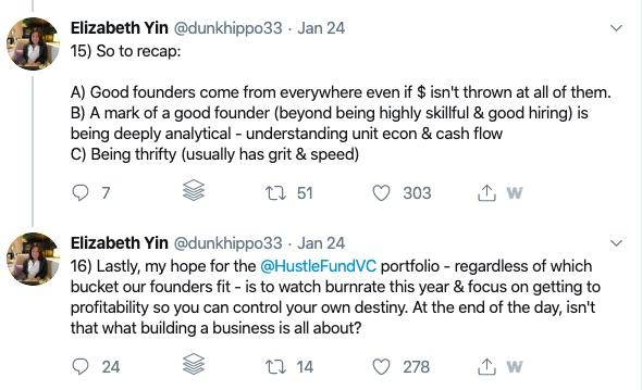 Elizabeth Yin VC Tweet 5