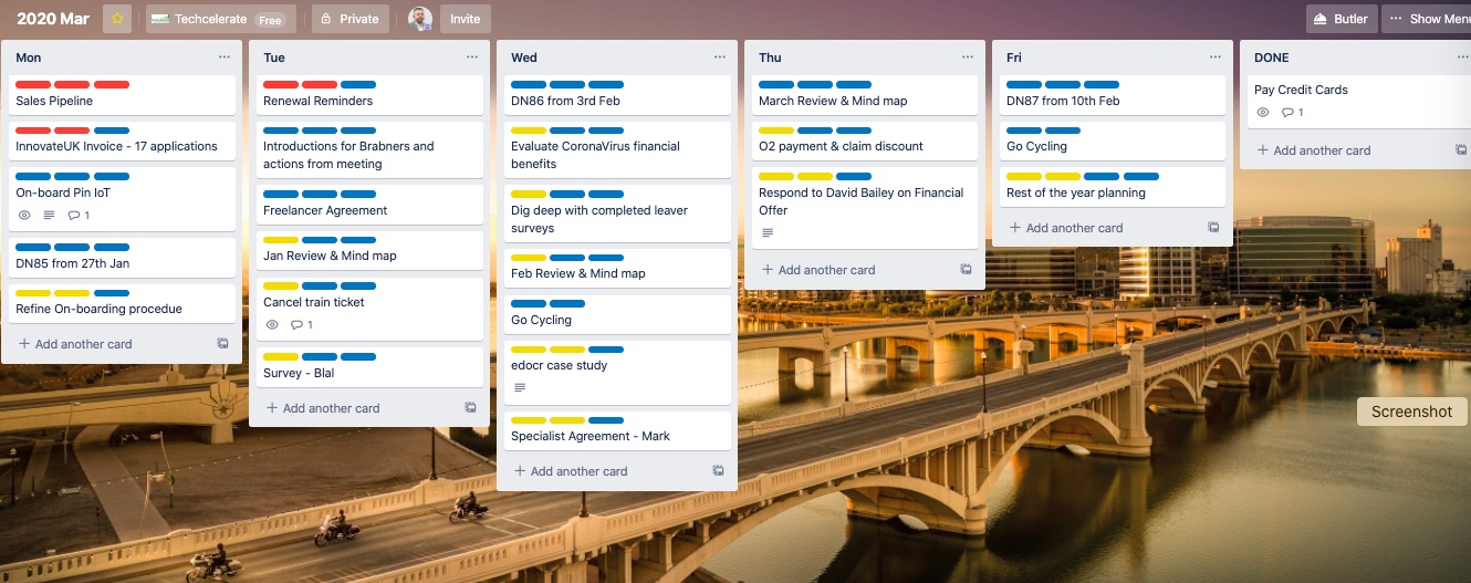 Trello after simplification